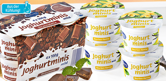 Joghurt-Minis, 4x 100 g, November 2012