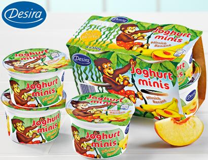 Joghurt-Minis, 4x 100 g, September 2013