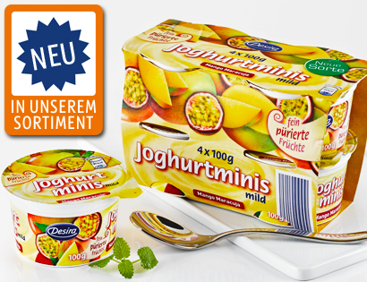 Joghurt-Minis, 4x 100 g, Oktober 2013