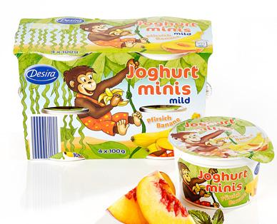 Joghurt-Minis, 4x 100 g, September 2014