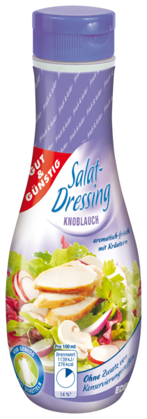 Salat-Dressing, Knoblauch, Januar 2018