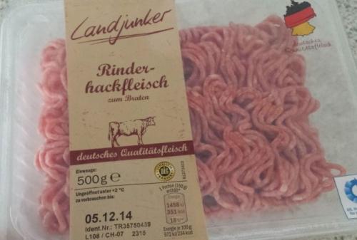 Rinderhackfleisch, Oktober 2017