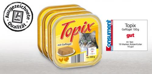 Katzenfutter, 4 x 100 g, August 2012