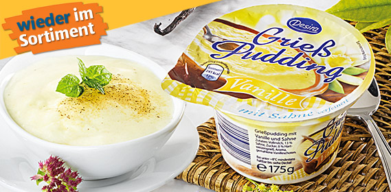 Grieß Pudding, Februar 2012