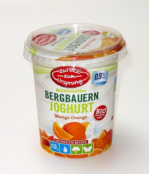 Bio-Bergbauern Frucht- joghurt 0,9 %, 400 g, Januar 2012