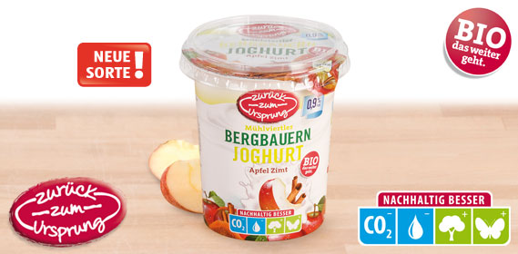 Bio-Bergbauern Frucht- joghurt 0,9 %, 400 g, Februar 2013