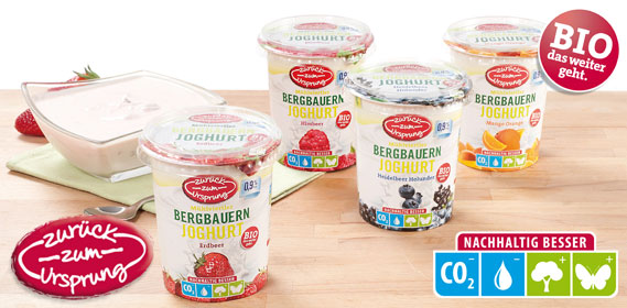 Bio-Bergbauern Frucht- joghurt 0,9 %, 400 g, Dezember 2013