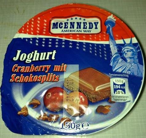Joghurt Cranberry mit Schokosplits, Juli 2017