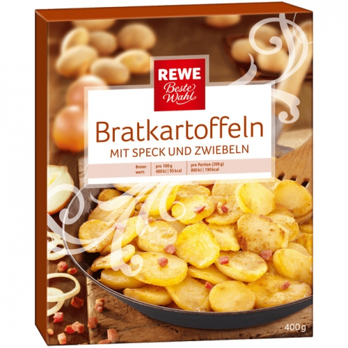 Bratkartoffeln mit Speck und Zwiebeln, November 2017