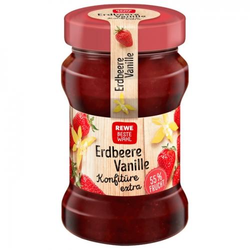 Konfitüre extra Erdbeere-Vanille, Dezember 2017