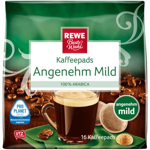 Kaffeepads Angenehm Mild, Januar 2018
