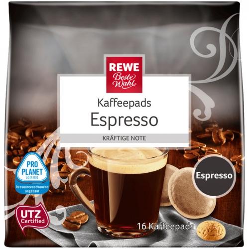 Kaffeepads Espresso, Dezember 2017