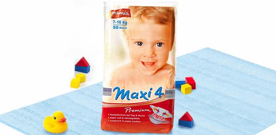 Premium-Windeln, Maxi 4, Juli 2010