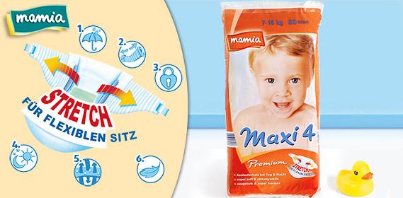 Premium-Windeln, Maxi 4, Januar 2012