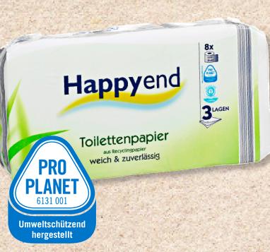 Toilettenpapier, Recycling, 3-lagig, Juni 2012