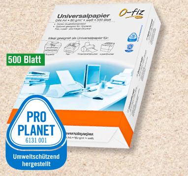 Universalpapier recycling, DIN A4, 80g/qm, Juni 2012