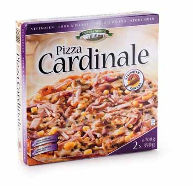 Steinofen-Pizza Salame, 2 Stück, April 2013