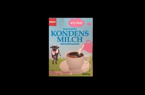 Kondensmilch, 4 % Fett, November 2016