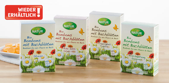 Bio-Bonbons mit Bachblüten, Oktober 2013