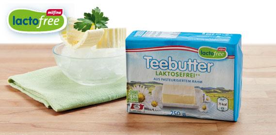 Laktosefreie Butter, Oktober 2013