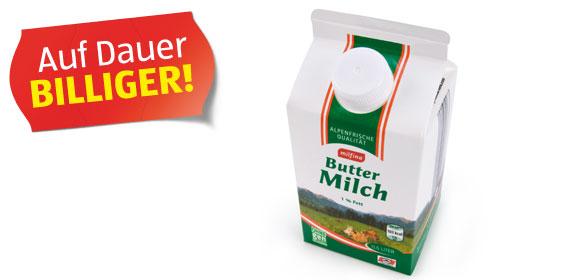 Buttermilch, 0,1 % Fett, Februar 2012
