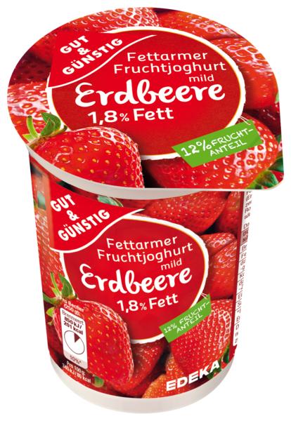 Fettarmer Fruchtjoghurt 1,8% Fett Erdbeere, Januar 2018