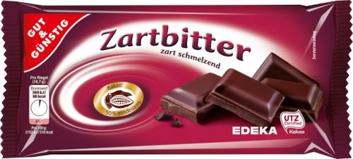 Schokolade Zartbitter, Januar 2018