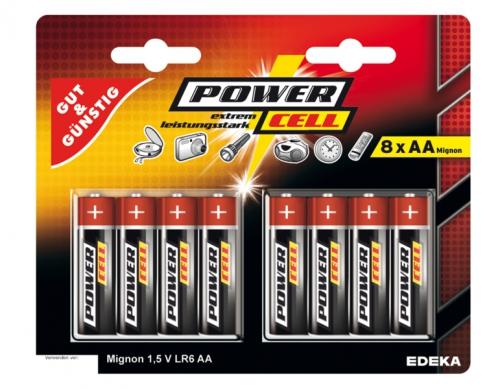 Batterien, 1,5 V, Mignon, AA, LR6, Januar 2018