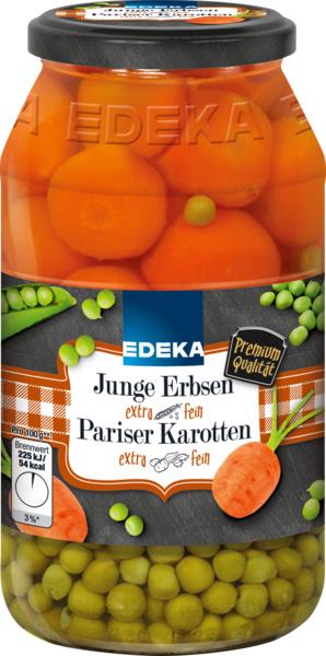 Erbsen mit Pariser Karotten extra fein, Januar 2018