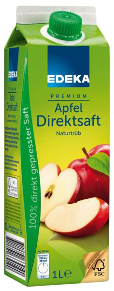 Apfel Direktsaft naturtrüb, Januar 2018