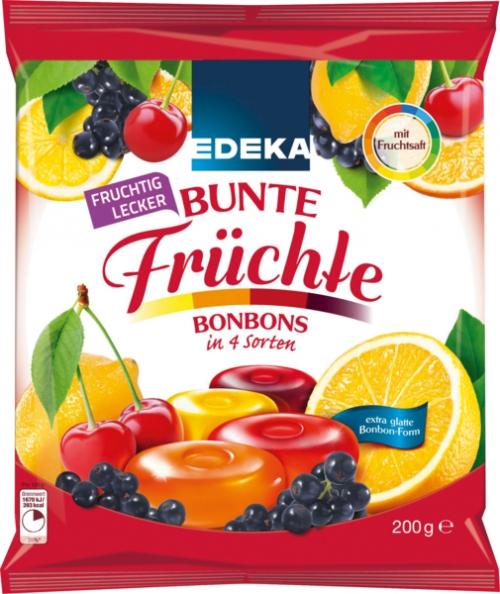 Bunte Früchte Bonbons, Januar 2018