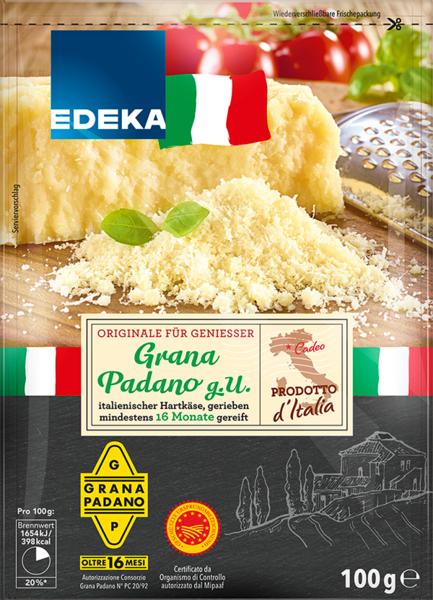 Grana Padano gerieben, Januar 2018