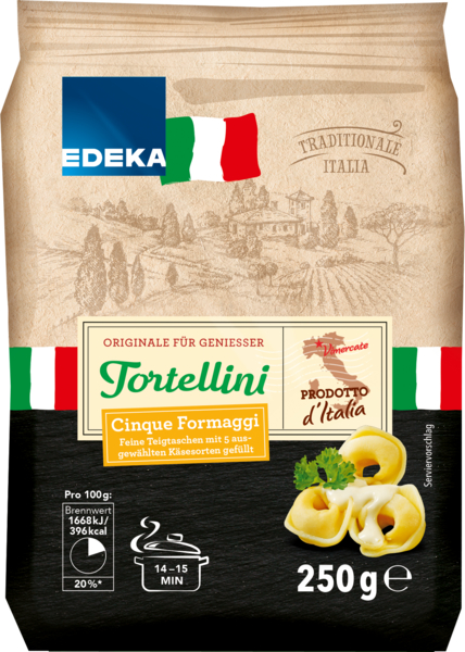 Tortellini 5-Käse, Januar 2018
