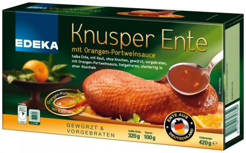 Knusper-Ente mit Orangen-Portweinsauce, Dezember 2017