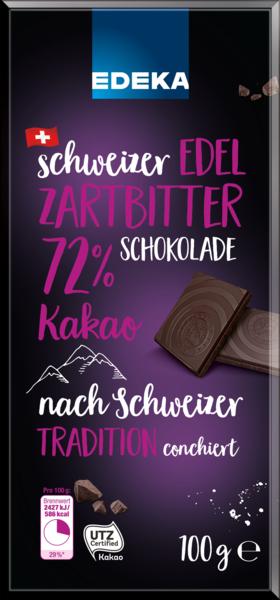 Schweizer Edel-Zartbitterschokolade, Januar 2018
