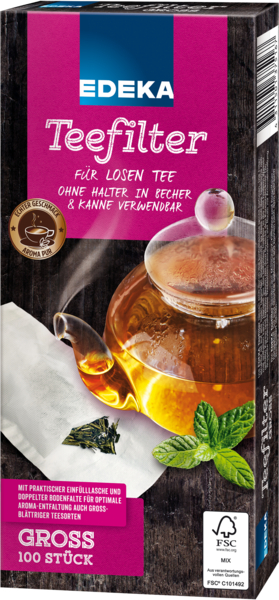 Teefilter Groß, Dezember 2017