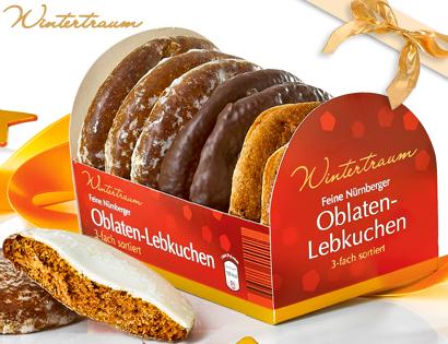 Oblaten-Lebkuchen, feine Nürnberger, Oktober 2013
