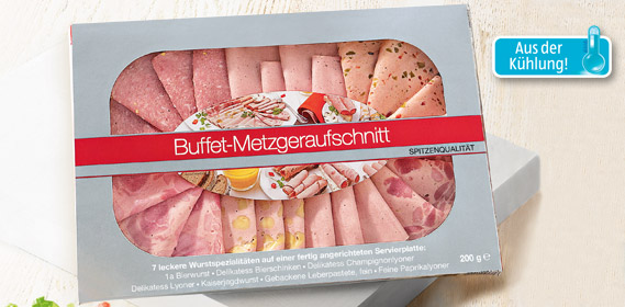 Buffet Metzgeraufschnitt, Dezember 2012