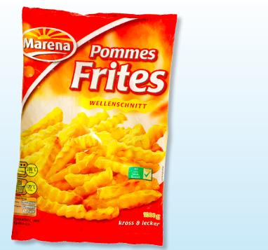 Pommes Frites, Wellenschnitt, Juni 2012