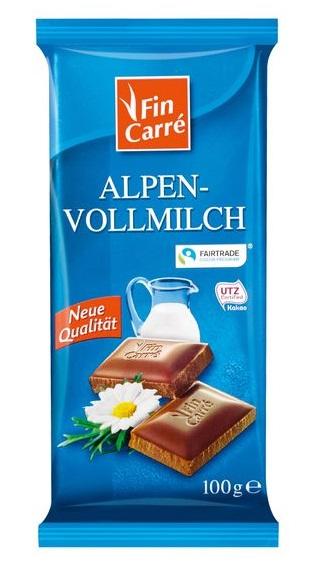 Alpen-Vollmilch Schokolade, Oktober 2017