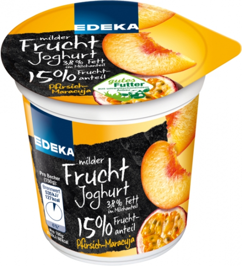 Fruchtjoghurt Pfirsich-Maracuja, Januar 2018