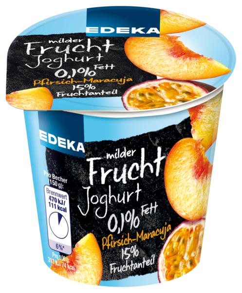 Joghurt 0,1 % Fett, Pfirsich Maracuja, Januar 2018