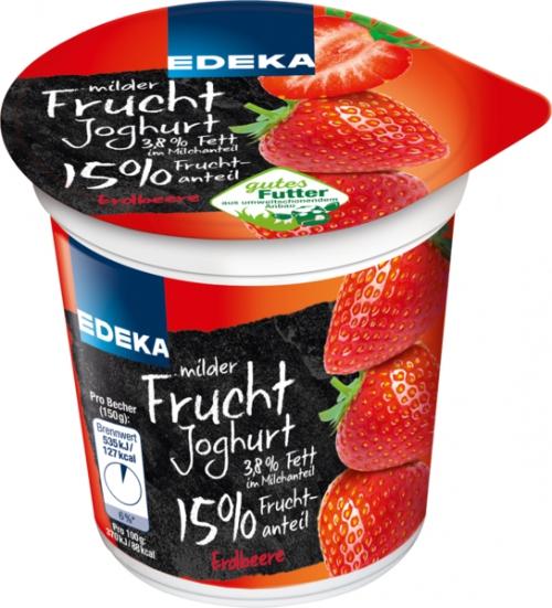 Fruchtjoghurt Erdbeer, Januar 2018