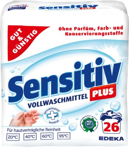 Vollwaschmittel 'Sensitiv Plus', Dezember 2017