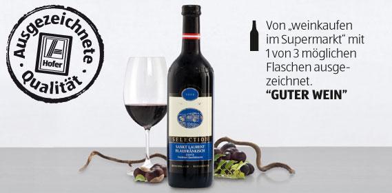 Cuvée Sankt Laurent Blaufränkisch Selection, Februar 2012