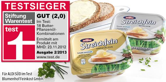 Streichfein, Butter, Februar 2013