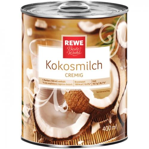 Kokosmilch, Januar 2018