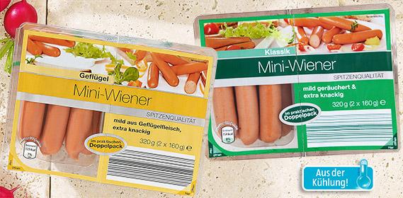 Mini-Wiener, 2x 160 g, August 2012