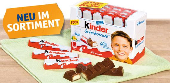 Kinder Schokolade, M�rz 2012