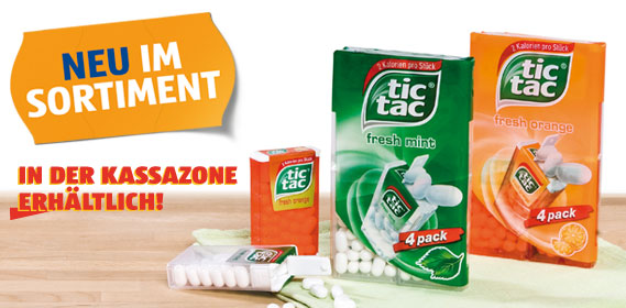 Tic Tac, 4x 18 g, M�rz 2012